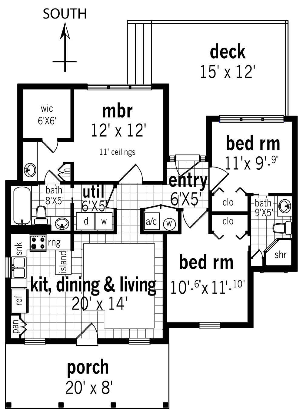 Floor Plan image of Rutherford house - 908 House Plan
